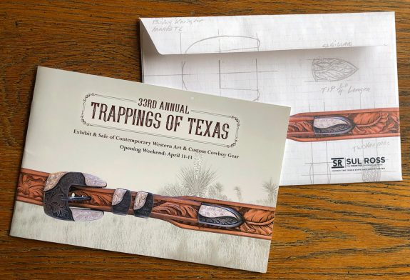 2019 Trappings of Texas Invitation Cover & Envelope