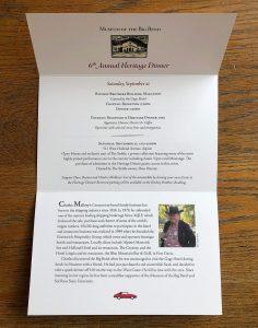 2019 Heritage Dinner & Fall Exhibit Invitation