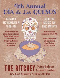 Poster for Dia de Los Quesos Cookoff
