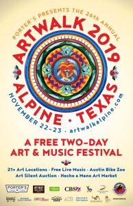 Poster for Alpine's Artwalk Festival